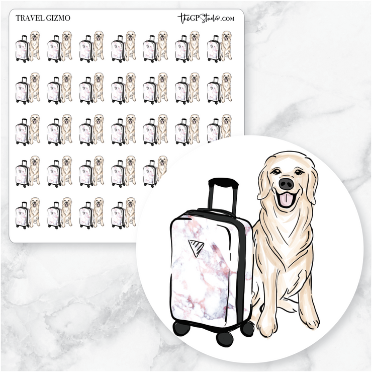 TRAVEL GIZMO Planner Stickers-The GP Studio