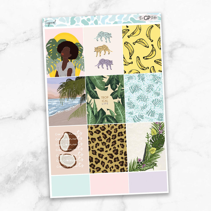 TROPICAL Full Boxes Planner Stickers-The GP Studio