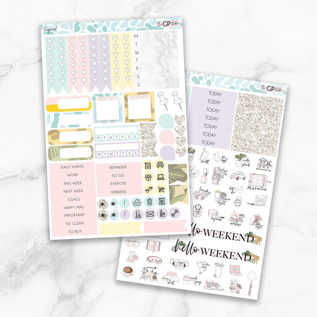 TROPICAL Functional Planner Sticker Kit-The GP Studio