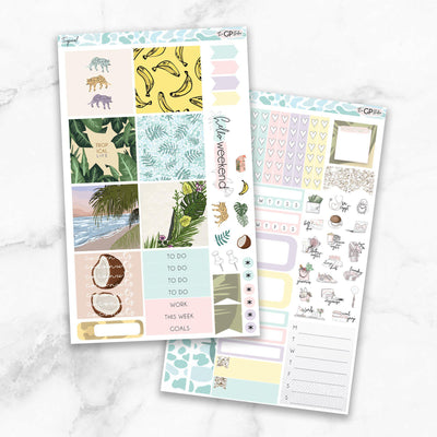 TROPICAL Mini Size Planner Sticker Kit-The GP Studio