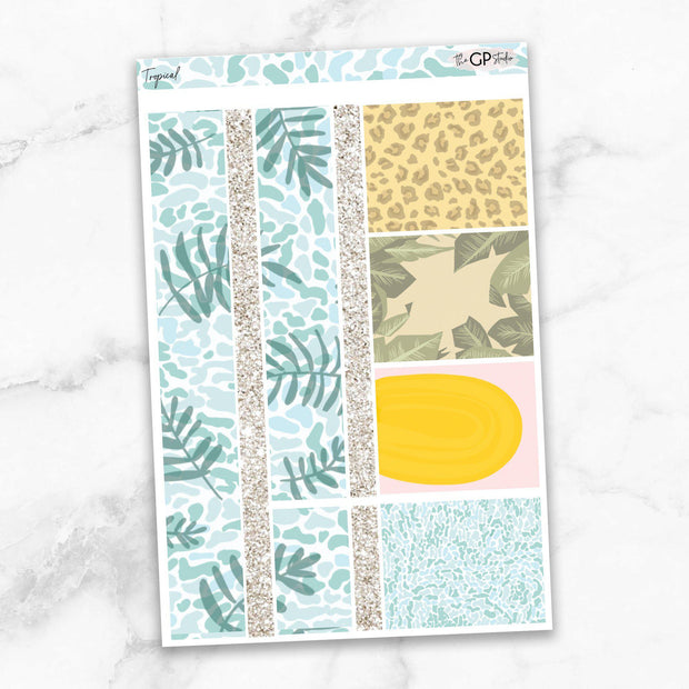 TROPICAL Planner Sticker Kit-The GP Studio