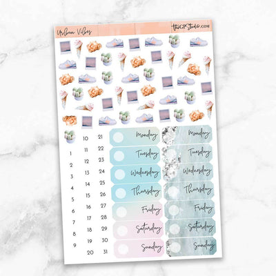 URBAN VIBES Deco & Date Cover Stickers-The GP Studio