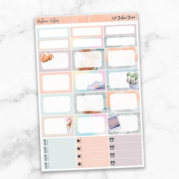 URBAN VIBES Half Boxes Planner Stickers-The GP Studio