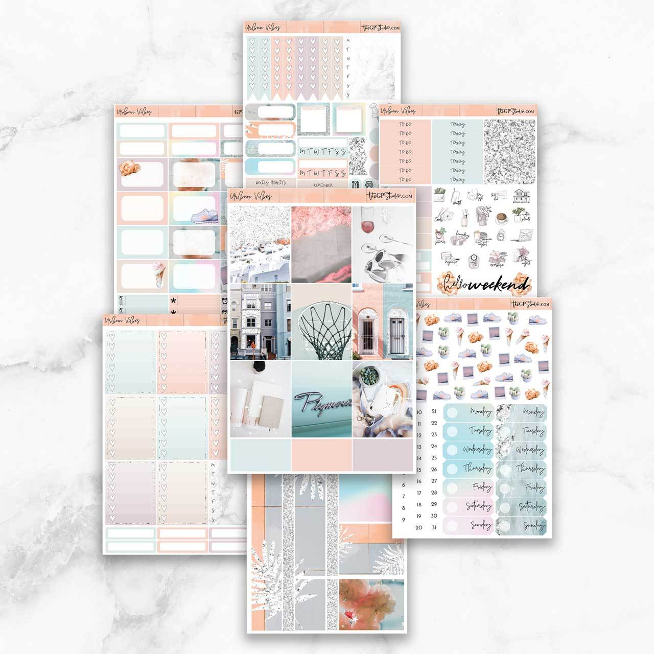 URBAN VIBES Planner Sticker Kit-The GP Studio