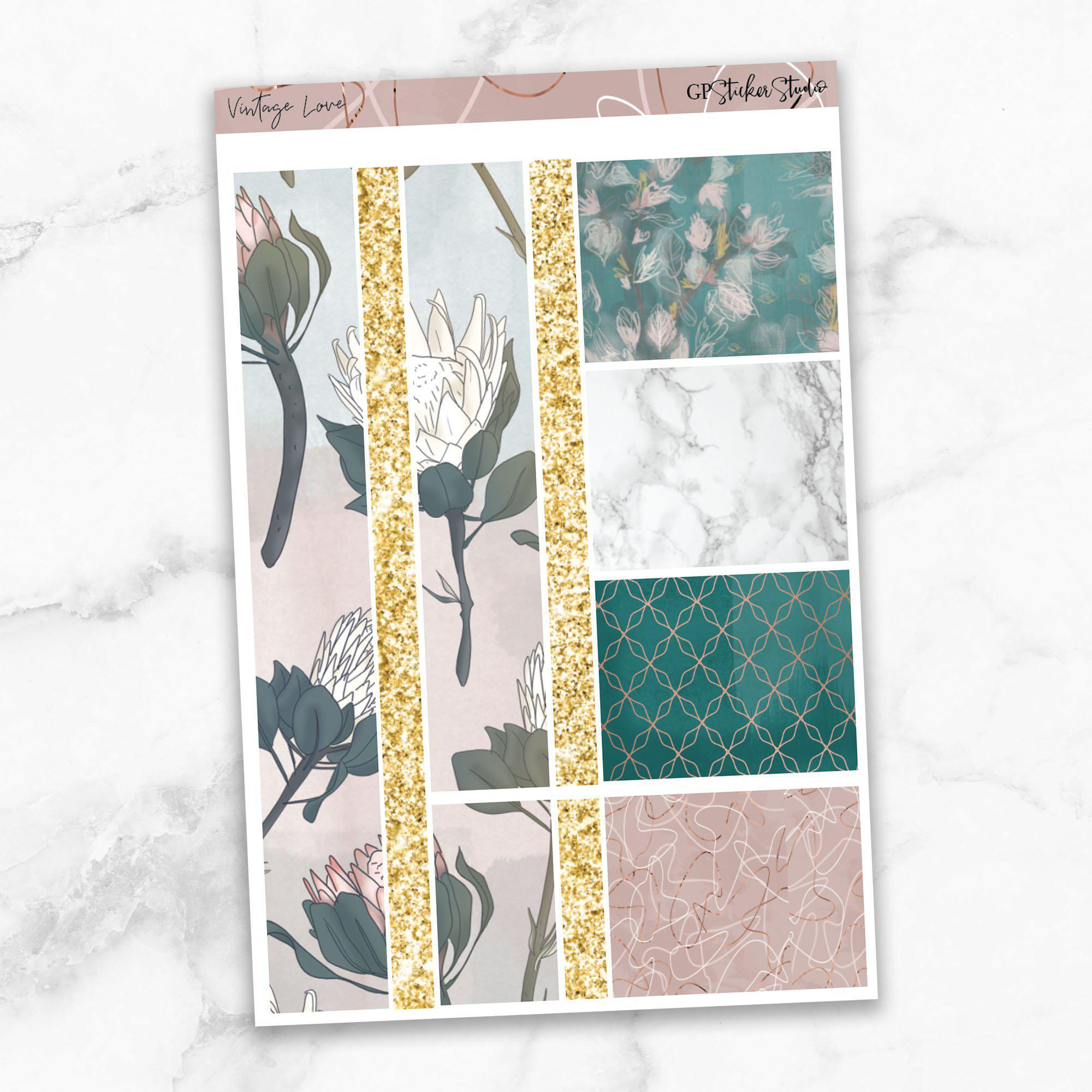 VINTAGE LOVE Washi Sheet Stickers-The GP Studio