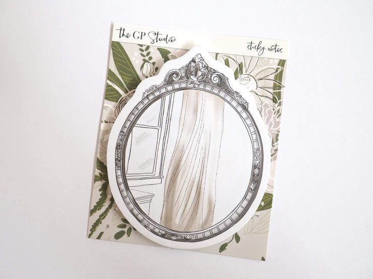 VINTAGE MIRROR STICKY NOTES-The GP Studio