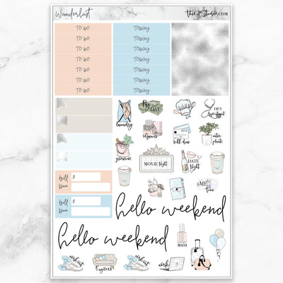 WANDERLUST Functional Planner Sticker Kit-The GP Studio