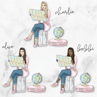 WANDERLUST GP Girl Planner Stickers-The GP Studio