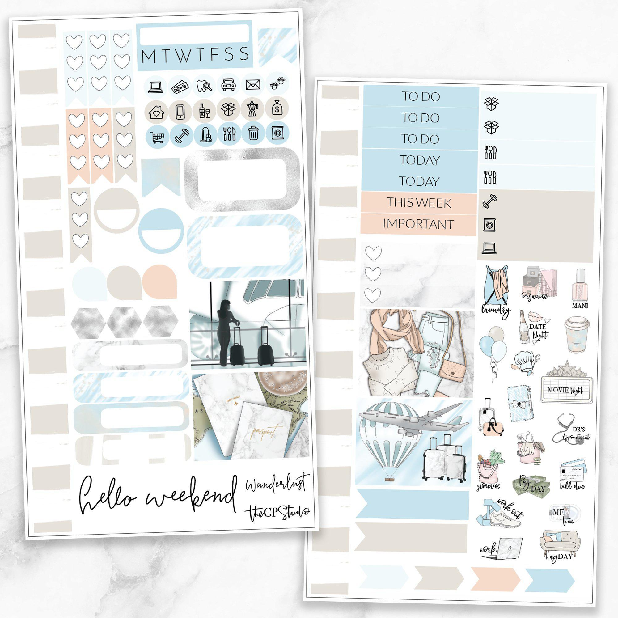 WANDERLUST Personal Size Planner Sticker Kit-The GP Studio