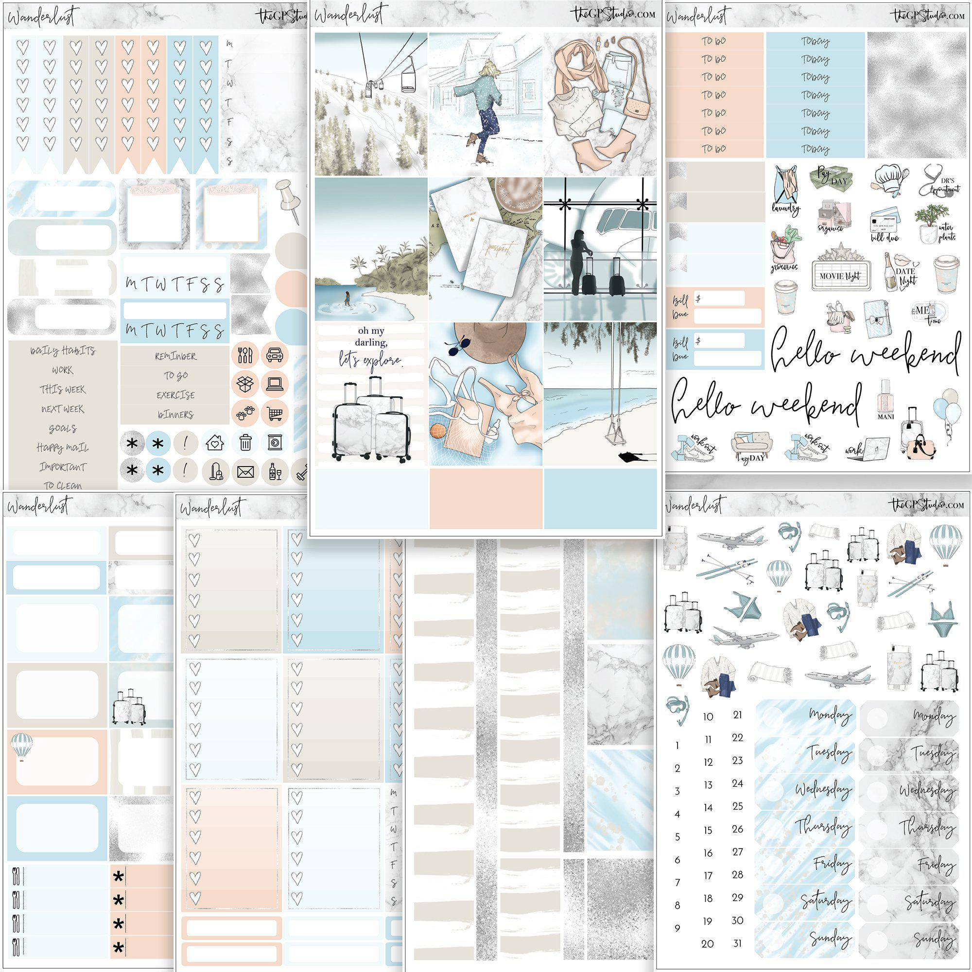 WANDERLUST Planner Sticker Kit-The GP Studio