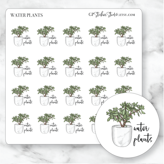 WATER PLANTS Icon Planner Stickers-The GP Studio