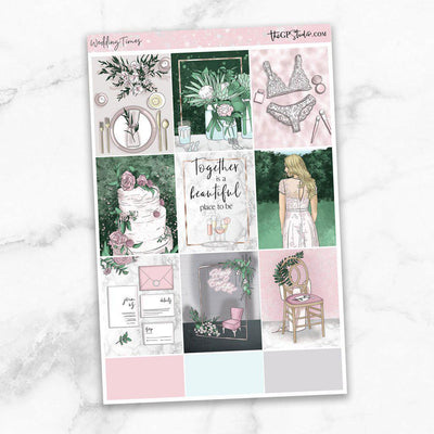 WEDDING TIMES Full Boxes Planner Stickers-The GP Studio