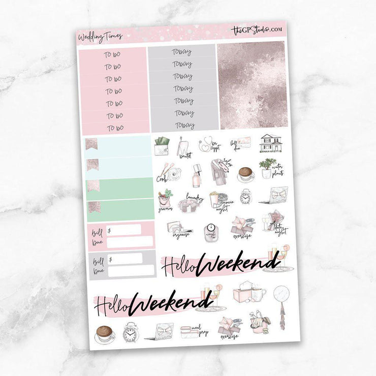 WEDDING TIMES Functional Planner Sticker Kit-The GP Studio