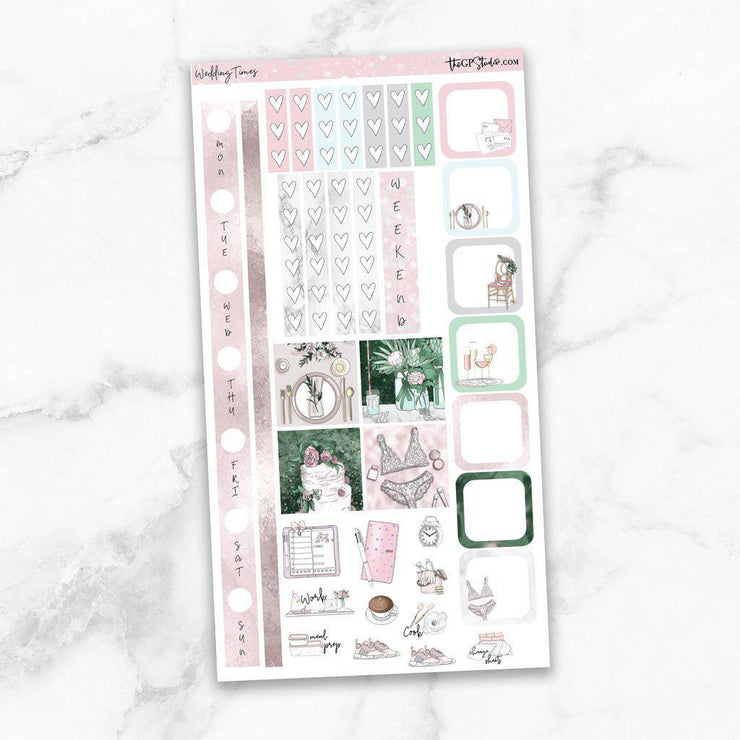WEDDING TIMES Hobonichi Weekly Size Planner Sticker Kit-The GP Studio