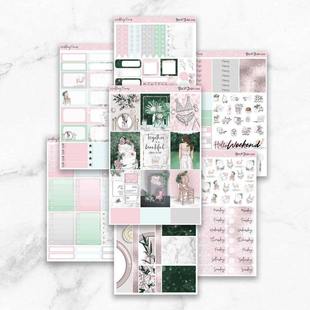 WEDDING TIMES Planner Sticker Kit-The GP Studio