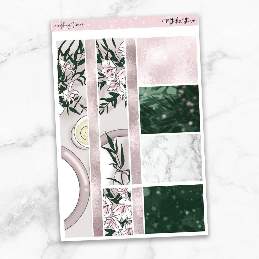 WEDDING TIMES Washi Sheet Stickers-The GP Studio