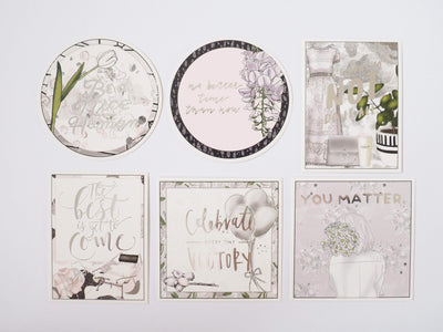 WHIMSICAL SILVER FOIL QUOTE CARDS - pack of 6-The GP Studio