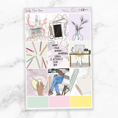 WORK FROM HOME Full Boxes Planner Stickers-The GP Studio