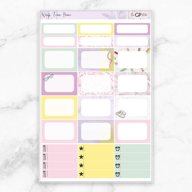 WORK FROM HOME Planner Sticker Kit-The GP Studio