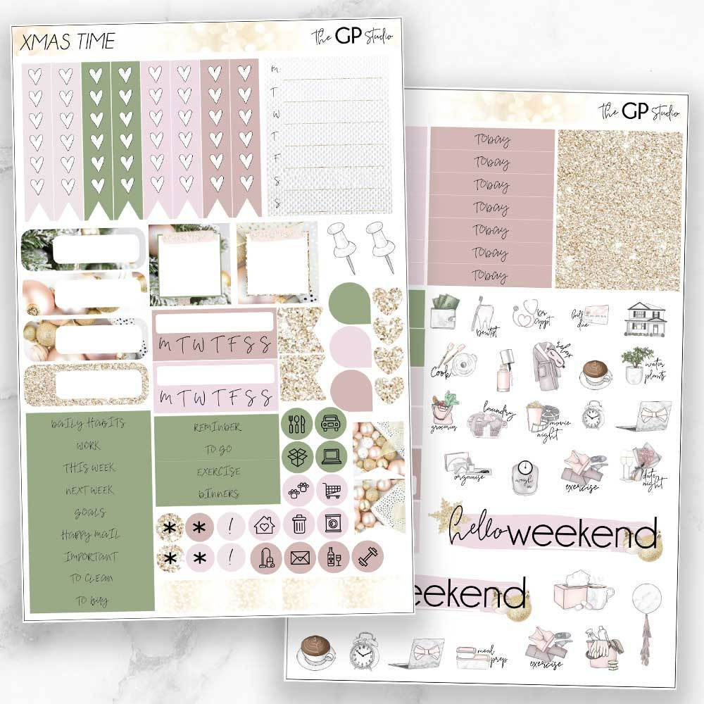 XMAS TIME Functional Planner Sticker Kit-The GP Studio