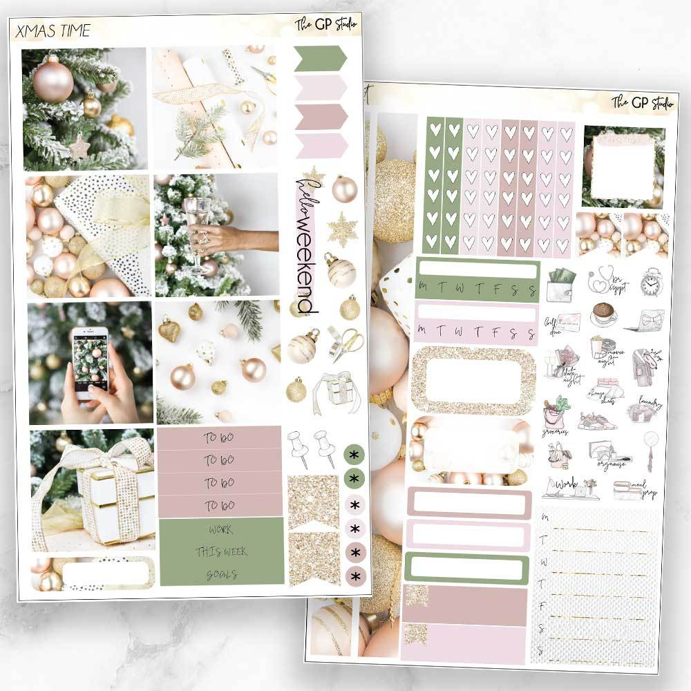 XMAS TIME Mini Size Planner Sticker Kit-The GP Studio
