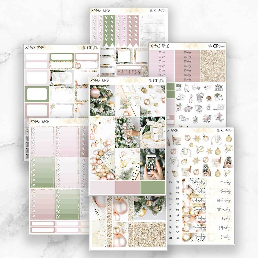 XMAS TIME Planner Sticker Kit-The GP Studio