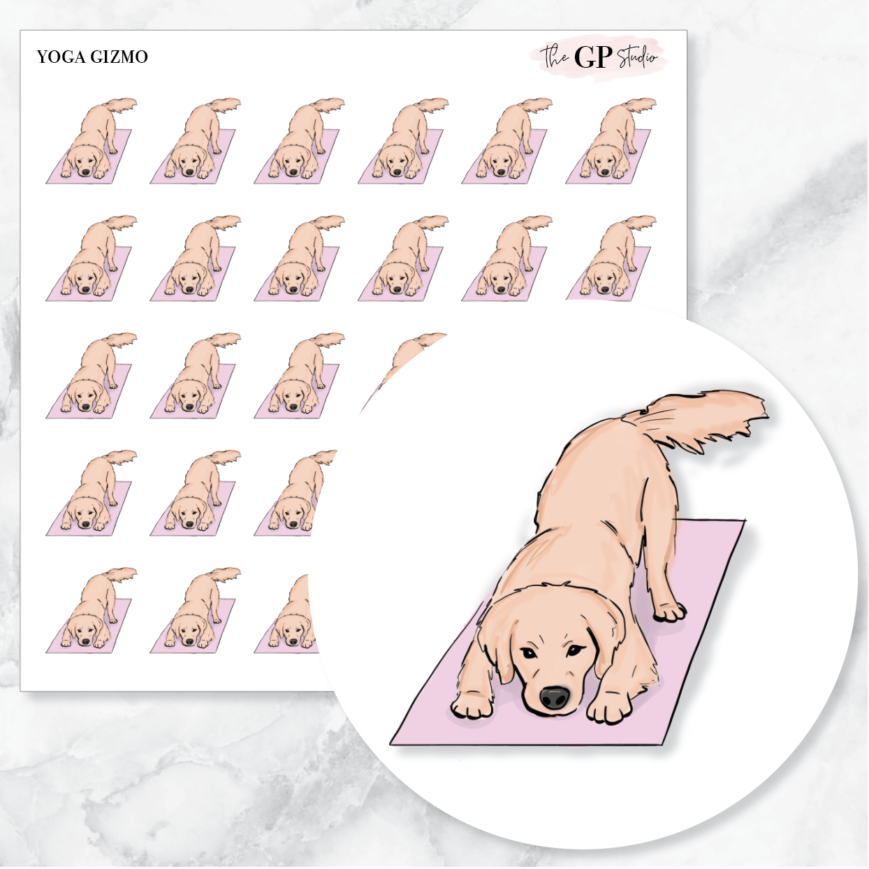 YOGA GIZMO Planner Stickers-The GP Studio