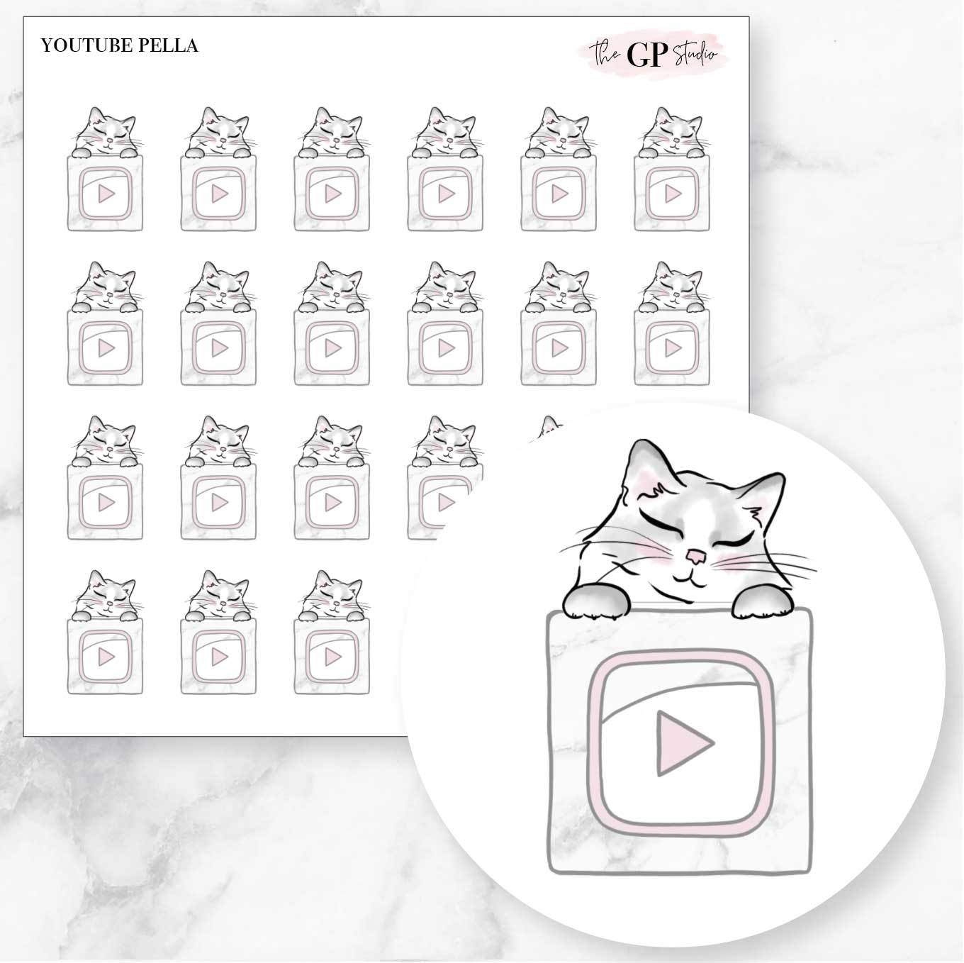 YOUTUBE PELLA Planner Stickers-The GP Studio
