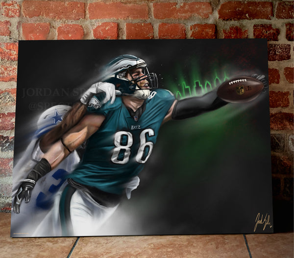 "Zach Ertz ""Believe"" Canvas - Spector Sports Art -"