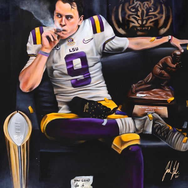 "Joe Burrow ""Burreaux"" Canvas - Spector Sports Art -"