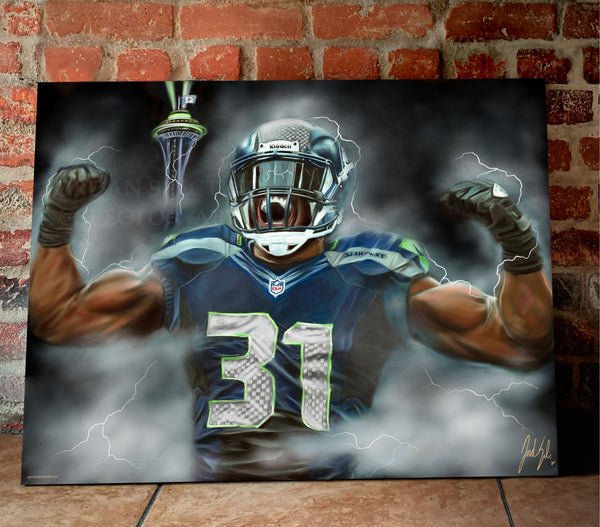 "Kam Chancellor ""Bam Bam Kam"" Canvas - Spector Sports Art -"