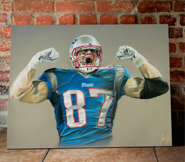 "Rob Gronkowski ""Gronk"" Canvas - Spector Sports Art -"