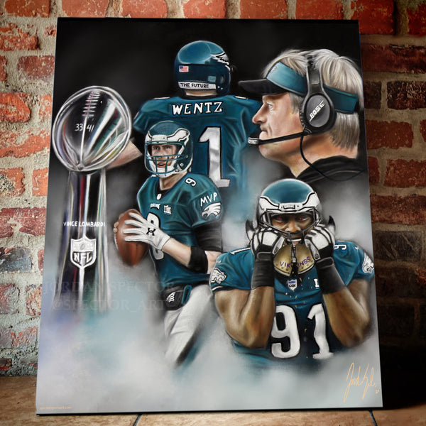 "Super Bowl LII ""The Underdogs"" - Spector Sports Art"