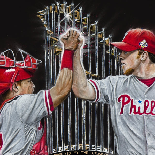 "Philadelphia Phillies ""Dynamic Duo"" Art Print - Spector Sports Art -"