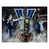 "Villanova 2016 National Champions ""The Shot"" Art Print - Spector Sports Art"