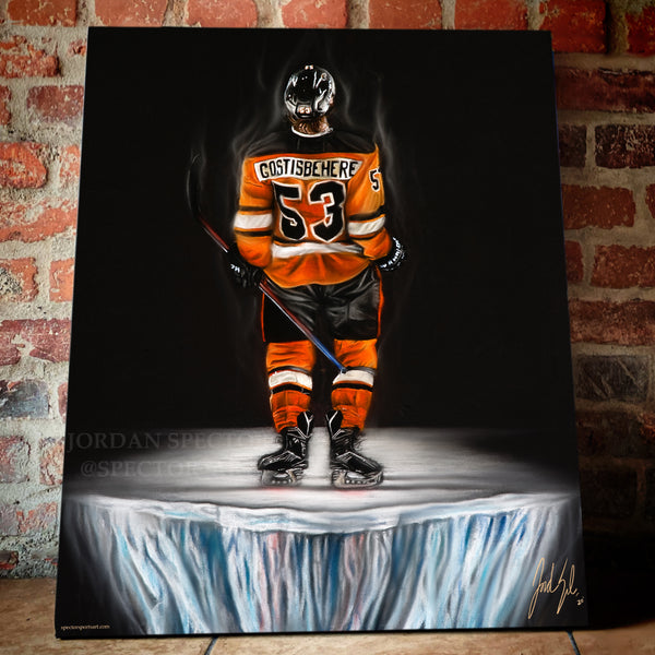 "Shayne Gostisbehere ""Ghost"" - Spector Sports Art"