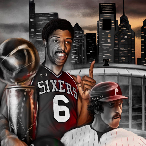 "Philly Sports ""Broad Street Boys"" Art Print - Spector Sports Art -"