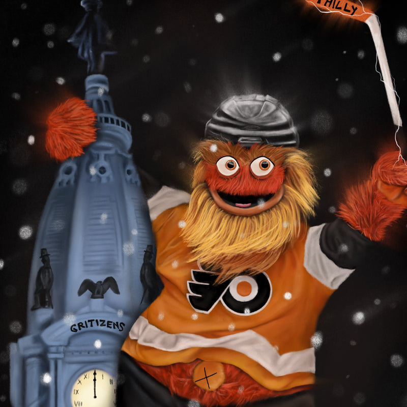 "Gritty ""GRITIZENS"" Philadelphia Flyers - Spector Sports Art"