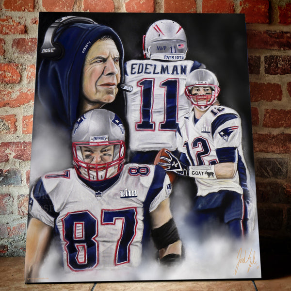 "Patriots ""The Dynasty"" Canvas - Spector Sports Art -"
