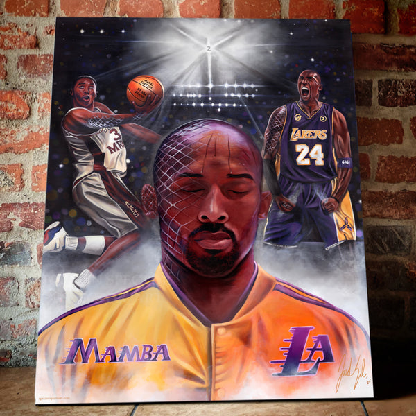 "Kobe Bryant ""Mamba Mentality"" Canvas - Spector Sports Art -"