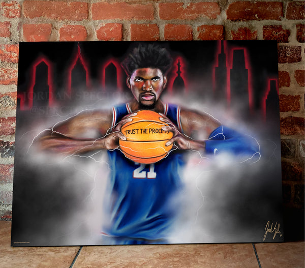 "Joel Embiid ""The Process"" Canvas - Spector Sports Art -"