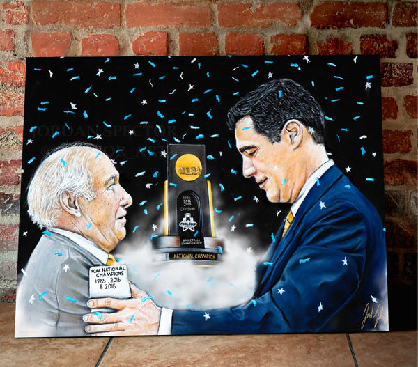 "Rollie Massamino and Jay Wright ""Two Legends"" - Spector Sports Art"