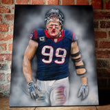 "JJ Watt ""Houston Strong"" - Spector Sports Art"