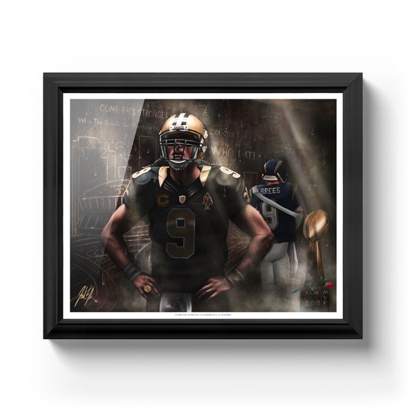 "Drew Brees ""THE SAINT"" Art Print - Spector Sports Art -"