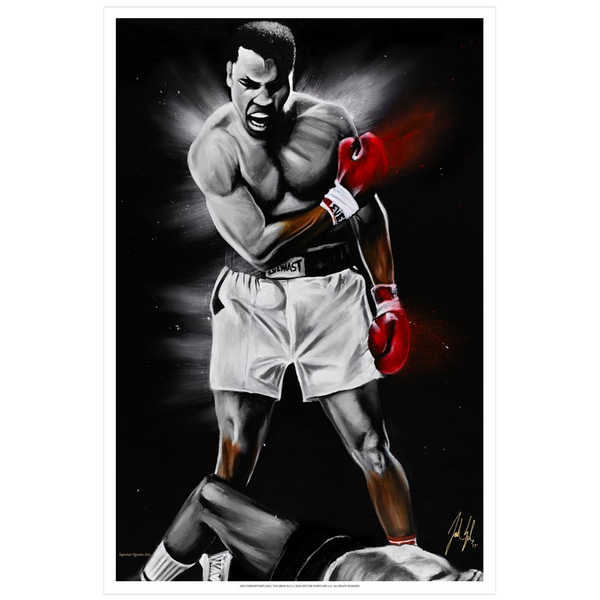 The Great Ali Art Print - Spector Sports Art - 16 X 24 Art Print / no frame