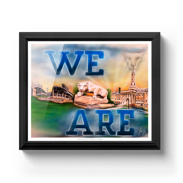 "Penn State ""We Are"" Art Print - Spector Sports Art -"
