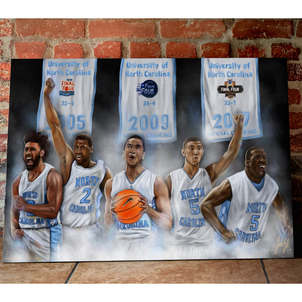 "North Carolina Basketball ""Roy Williams Point Guard Dynasty"" - Spector Sports Art"