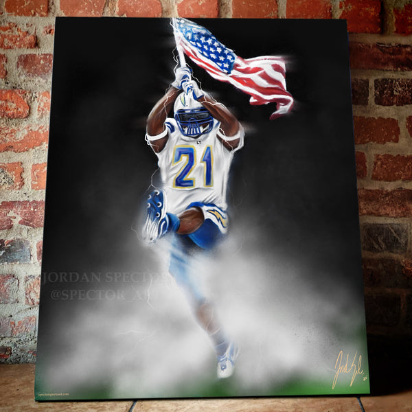 "Ladainian Tomlinson ""LT"" Canvas - Spector Sports Art -"