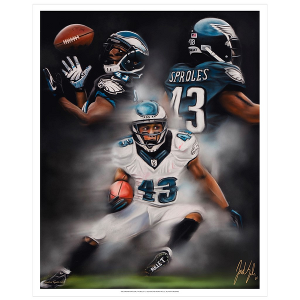 "Darren Sproles ""The Bullet"" Art Print - Spector Sports Art - 16 X 20 Art Print / no frame"
