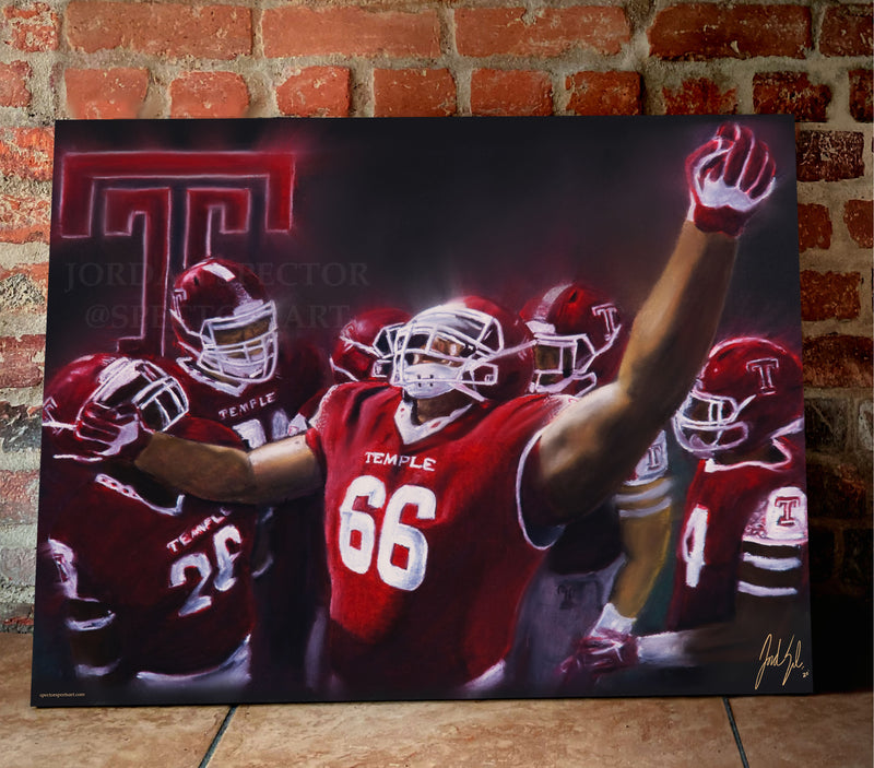 "Temple University Football ""TUFF"" Canvas - Spector Sports Art"